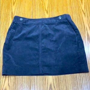 Banana Republic Gray Corduroy Mini Skirt